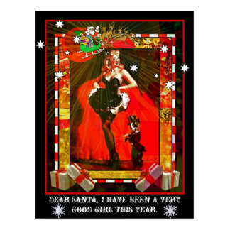 Dear Santa, I have been a very good girl this year Postcard