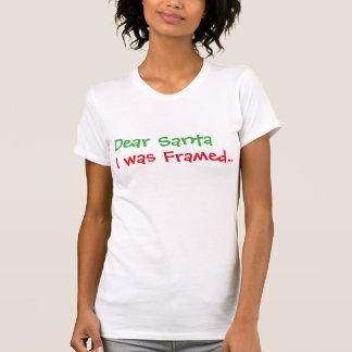 dear santa, i was framed funny christmas Hoodie