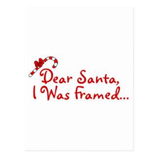 Dear Santa I Was Framed Postcard