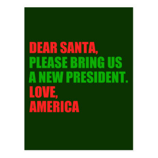 Dear Santa Impeach Trump for Christmas Postcard