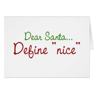 Dear Santa Note Card
