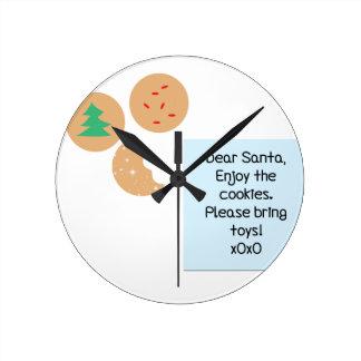 Dear Santa - Please Bring Toys Clocks
