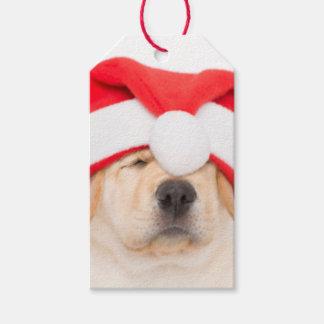Dear Santa Puppy Gift Tags