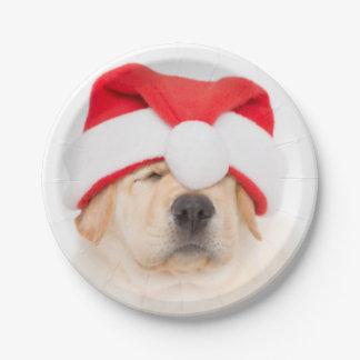 Dear Santa Puppy Paper Plate