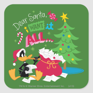 Dear Santa Square Sticker