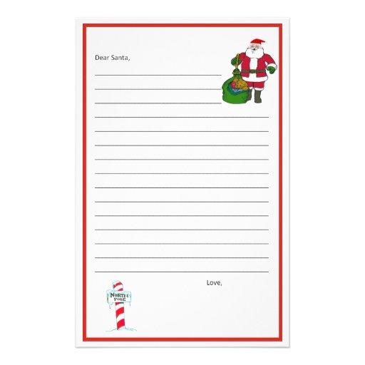 Dear Santa Stationary! Template Stationery | Zazzle