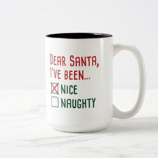 Dear Santa Two-Tone Coffee Mug