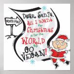 Dear Santa Vegan Wish Poster