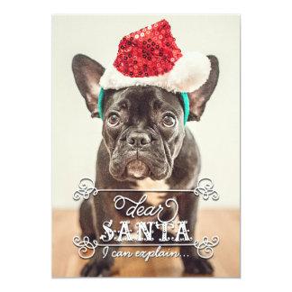 """Dear Santa We Can Explain Holidays Photo Cards 5"""" X 7"""" Invitation Card"""