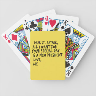 Dear St Patrick New President Bicycle Playing Cards