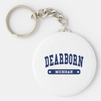 Dearborn Heights Michigan College Style tee shirts Keychain