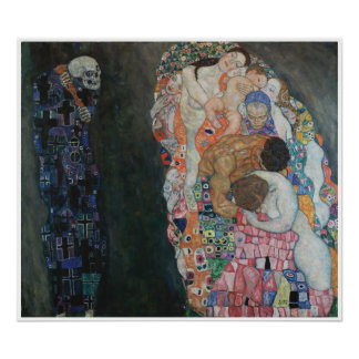 Death and Life Gustav Klimt Poster