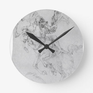 Death and rider by Albrecht Durer Wallclocks