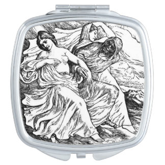 Death and the Dancers compact mirror