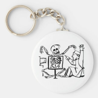 Death and the X-ray Doctor circa 1951 Basic Round Button Keychain