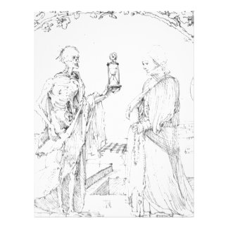 Death and wife by Albrecht Durer Customized Letterhead