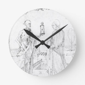 Death and wife by Albrecht Durer Wallclock