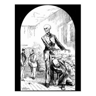 Death as the real Guardian of the Poor postcard