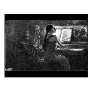 Death at the Piano postcard