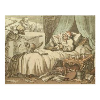 Death Bed Postcard