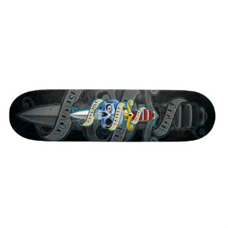 Death Before Dishonor Knife Design Skate Board