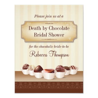 Death by Chocolate Bridal Shower Card
