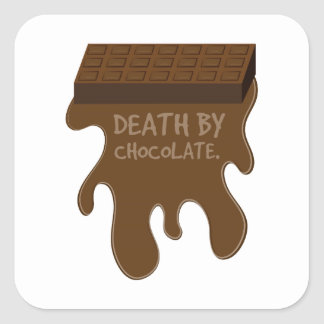 Death By Chocolate Square Sticker