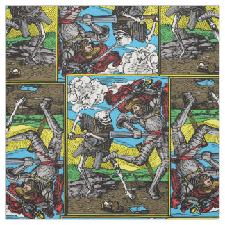 death comes for us all colored tile fabric