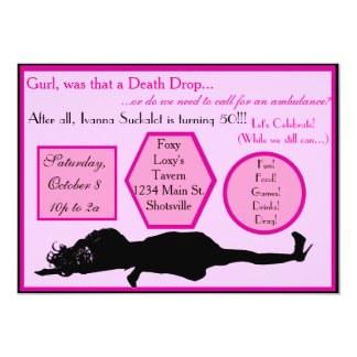 Death Drop Drag Birthday Invitations