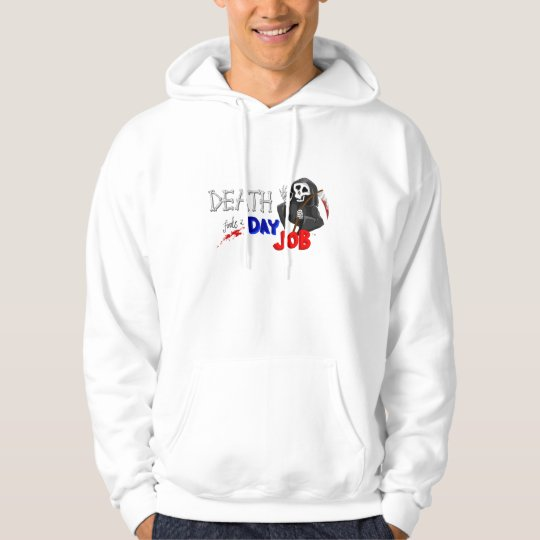 Death Finds a Day Job Original Cartoon Hoodie