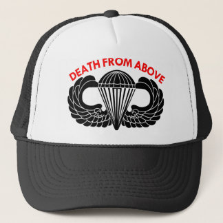 Death From Above Parachute Wings Trucker Hat