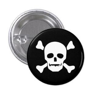 Death Head Skull 1 Inch Round Button
