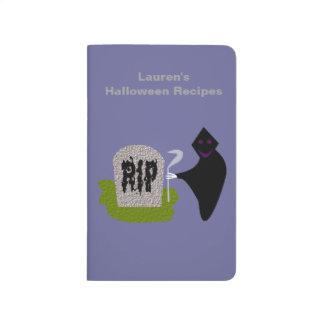 Death in the Cemetery Halloween Custom Recipe Journals