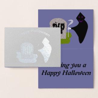 Death in the Cemetery Halloween Foil Card