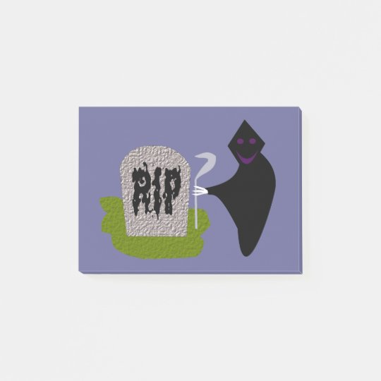 Death in the Cemetery Halloween Post it notes Pad