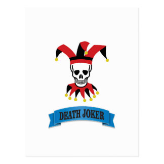 death joker art postcard