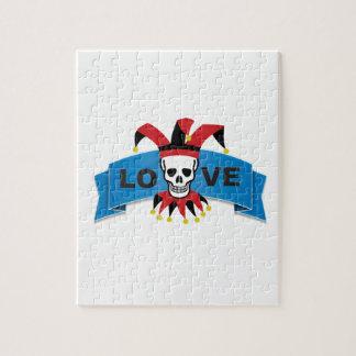 death love banner blue jigsaw puzzle