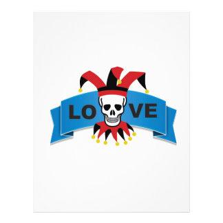 death love banner blue letterhead design