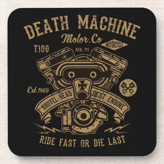 Death Machine Harley Motor Ride Fast or Die Last Coaster
