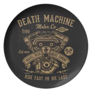 Death Machine Harley Motor Ride Fast or Die Last Plate