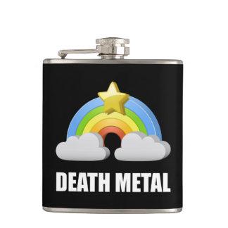 Death Metal Rainbow Hip Flask