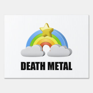 Death Metal Rainbow Sign