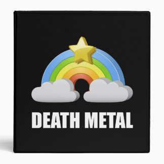 Death Metal Rainbow Vinyl Binder