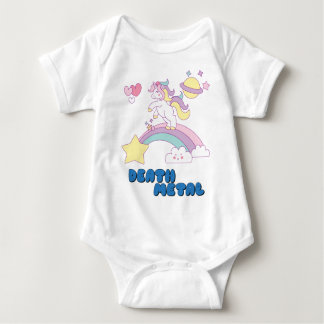Death Metal unicorn Baby Bodysuit