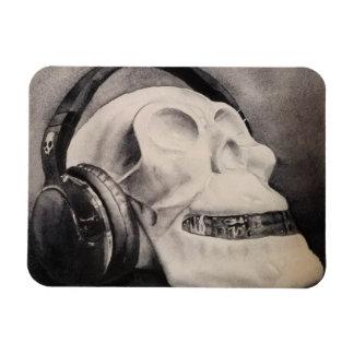 Death Metal - Watercolor Skull Headphones Magnet