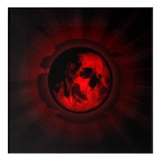 Death moon skull acrylic wall art