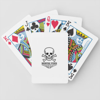 death mortal foes bicycle playing cards