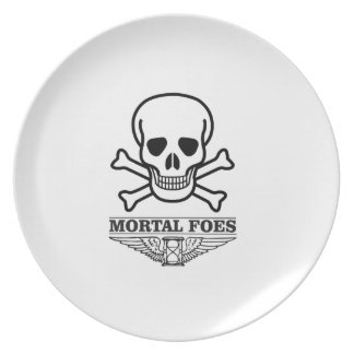 death mortal foes party plate