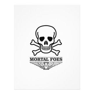 death mortal foes personalized letterhead