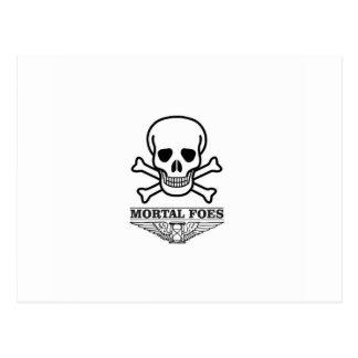 death mortal foes postcard